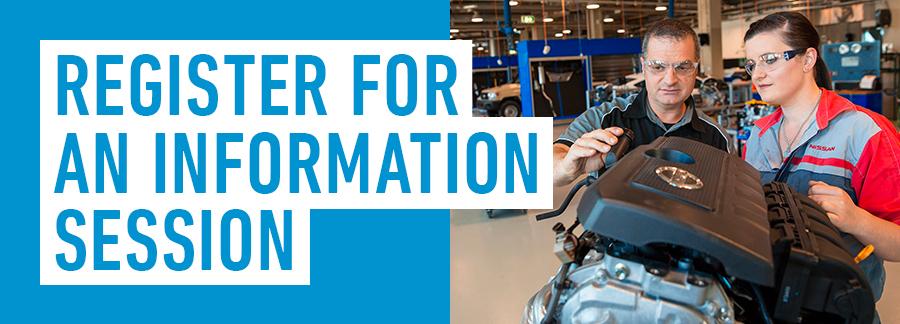 Register for an information session