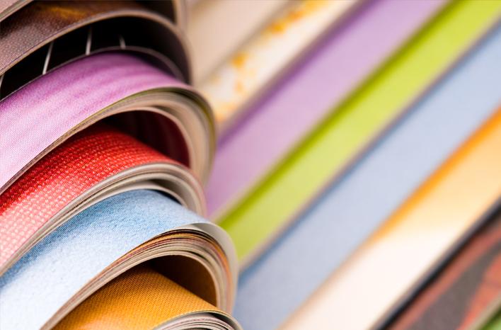 Canon | Forlagsvirksomhet | Bunke med fargemagasiner