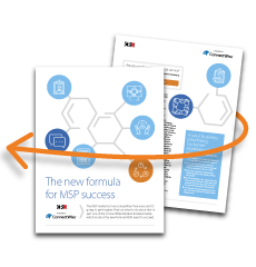 eBook cover - The new formula for MSP success