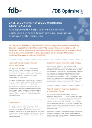 Case study: NHS Heywood, Middleton and Rochdale CCG