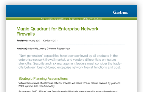 Gartner Enterprise Firewall