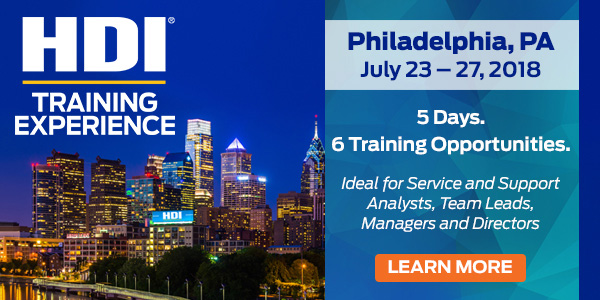 HDI Training Experience | Philadelphia, PA