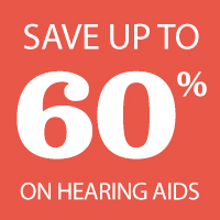 Save up to 60% oh hearing aids