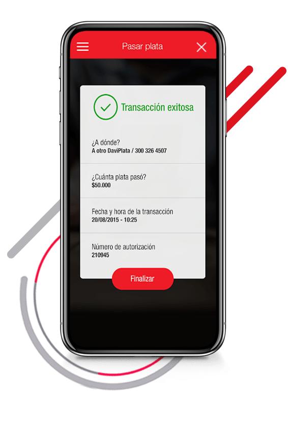 Pase plata desde su celular gratis con DaviPlata