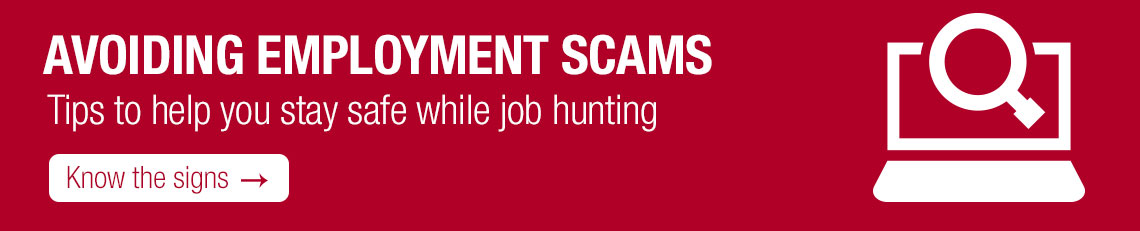 Signs of an employment scam