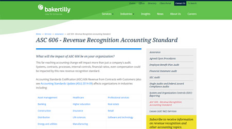 Revenue Recognition Services