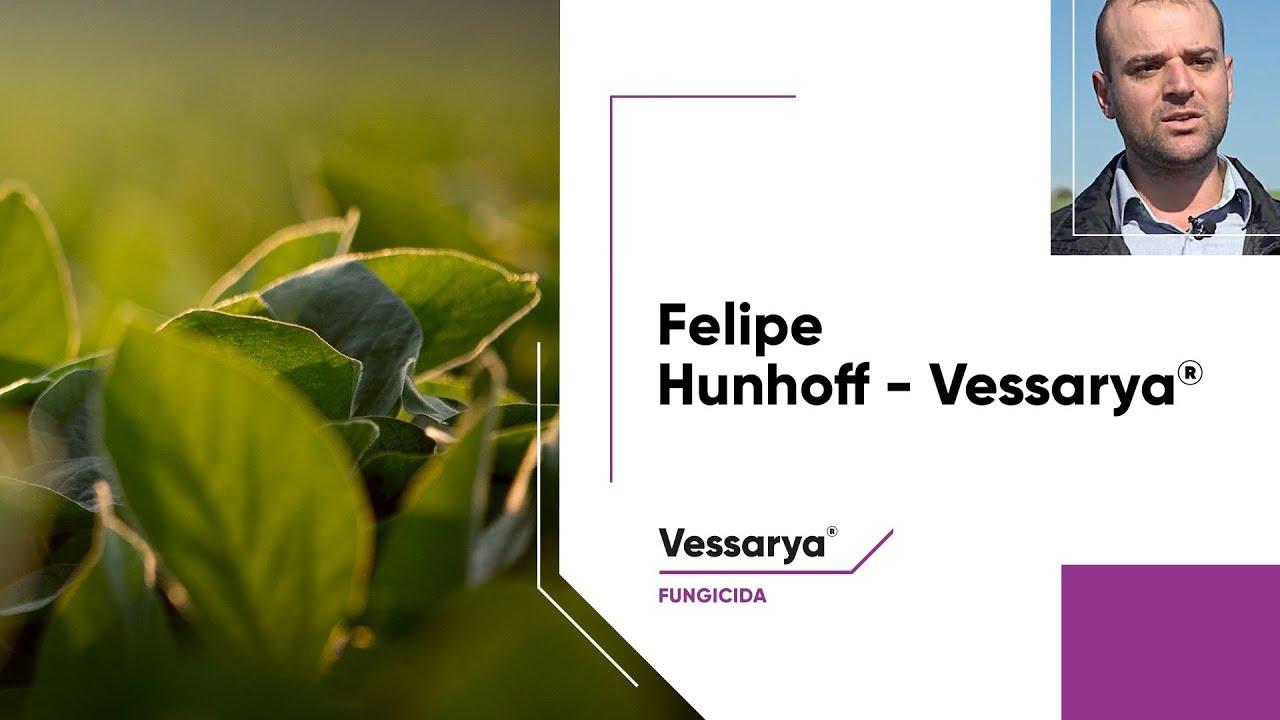 Engenheiro agrônomo Felipe Hunhoff destaca a eficácia de Vessarya®