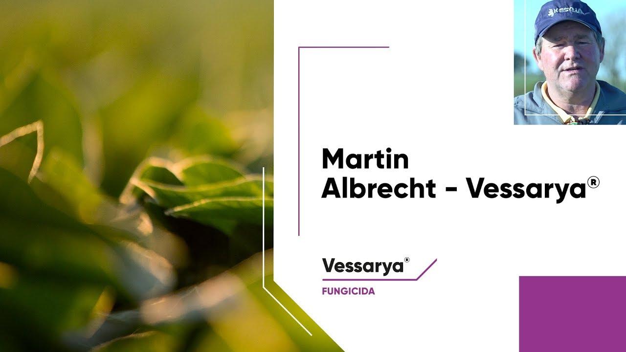 O produtor rural Martin Albrecht fala sobre os resultados de Vessarya®