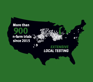 Map of the U.S. showing local testing - graphic