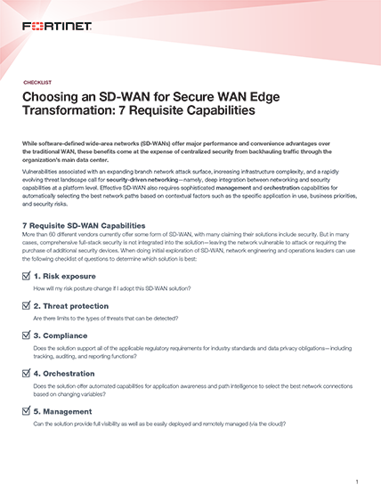 Fortinet - Find out how to choose the right Secure SD-WAN
