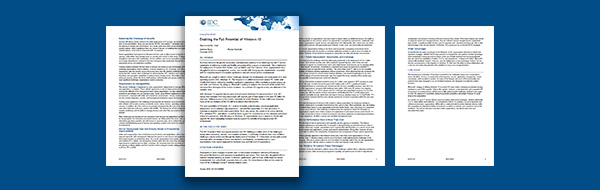IDC Brief: Windows 10 for Business Benefits Paper
