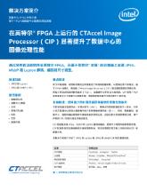 在英特尔® FPGA 上运行的 CTAccel 图像处理器 (CIP) 可极大提高数据中心的图像处理性能