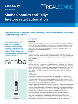 Simbe Robotics and Tally: In‑store retail automation