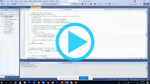 パート 2 「DPC++ と GPU ワークロードのパフォーマンスをプロファイル」 (デモ 1)