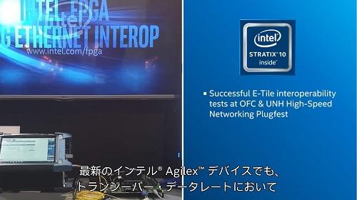 インテル®  Agilex™ FPGA :58G トランシーバー