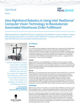 How RightHand Robotics Is Using Intel® RealSense™ Computer Vision Technology to Revolutionize Automated Warehouse Order Fulfillment