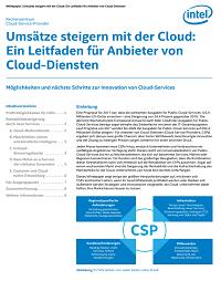 Möglichkeiten und nächste Schritte zur Innovation von Cloud-Services