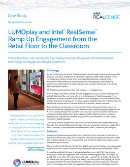 LUMOplay and Intel® RealSense™ ramp up engagement from the retail floor to the classroom