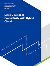 Drive Developer Productivity with Hybrid Cloud, Forrester Consulting Paper