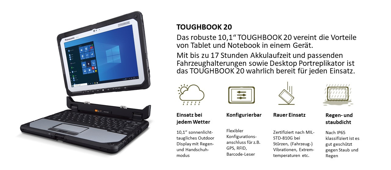 "10,1"" Detachable Notebook TOUGHBOOK 20"