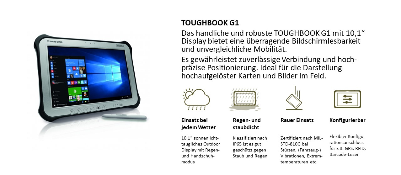 "10,1"" Tablet TOUGHBOOK G1"