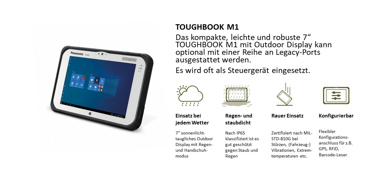 "7"" Tablet TOUGHBOOK M1"