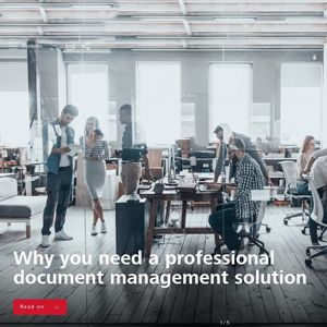 Why you need a Professional Document Management Solution