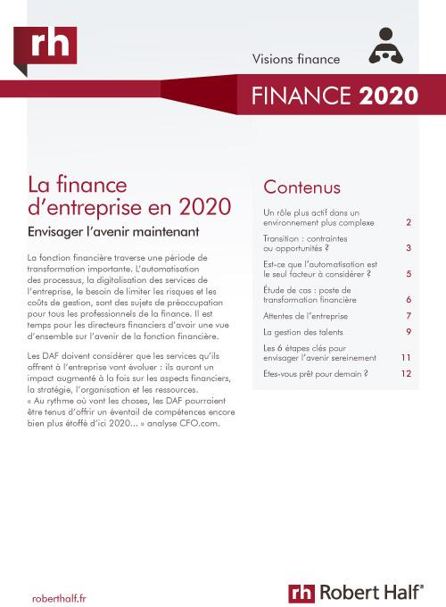 étude finance d'entreprise 2020