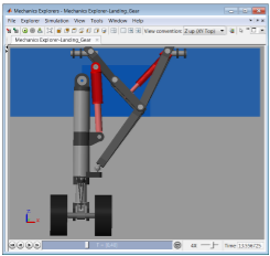 Landing Gear Actuator Design with Simscape